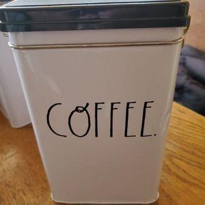 Rae Dunn tin coffee canister